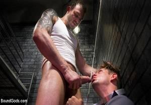 BoundGods – Bad boy inmate Cliff Jensen breaks in new guard Michael DelRay