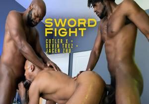 Cutler X, Devin Trez, Jacen Zhu – Sword Fight (Bareback)