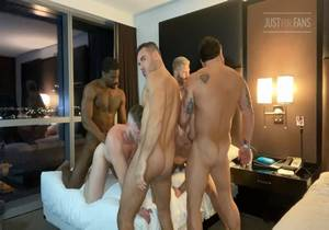 Jake Nicola Orgy Part 1 (with Vince Parker, Marko Cain, Brian Bonds, Mason Lear, Riley Mitchell, Manuel Skye & SinCityPapy94) (Bareback)